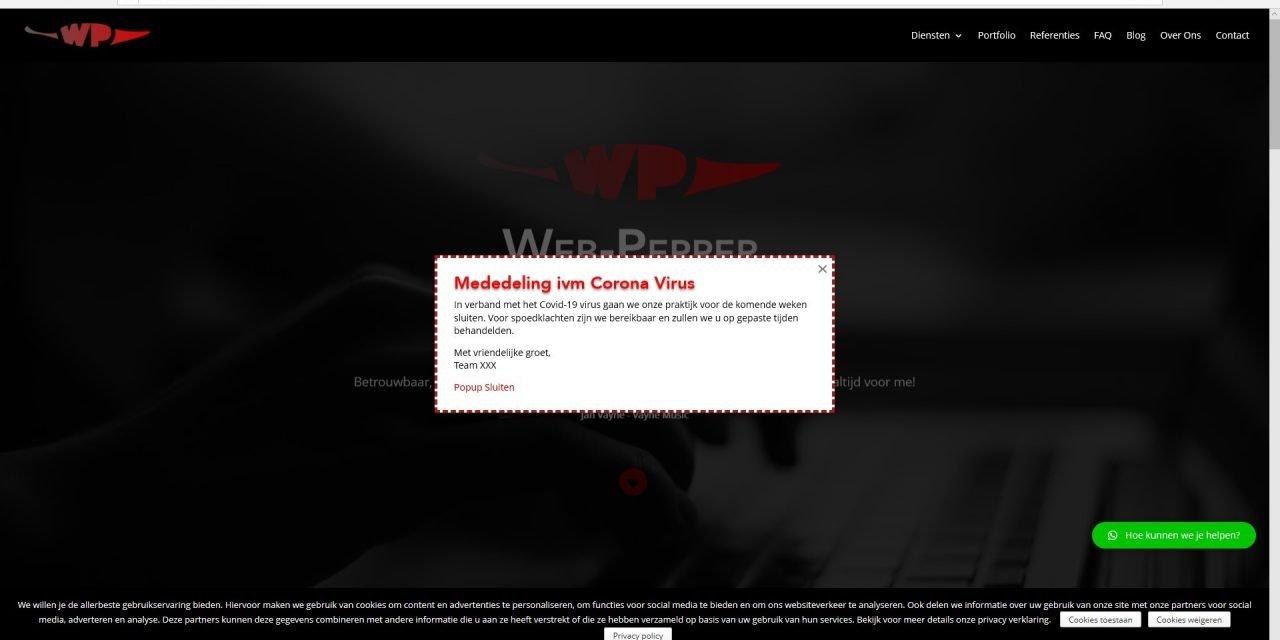 Video Tutorial: Hoe zet ik een goede popup met informatie voor mijn website-bezoekers in mijn WordPress website