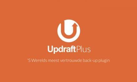 Extra backups met UpdraftPlus
